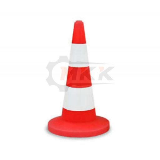 Конус дорожный сигнальный 2 белые полосы 520 мм