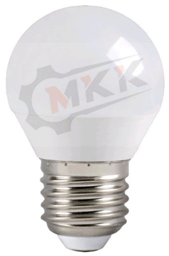 Лампа светодиодная LED 5вт E27 белая шар