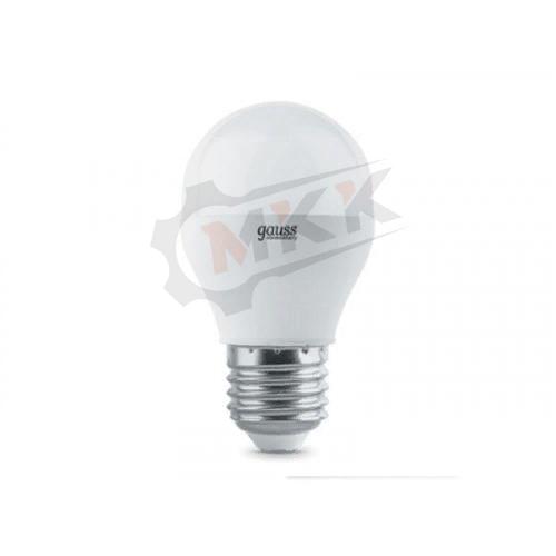 Лампа светодиодная LED 6вт 230в Е27 белый матовый шар