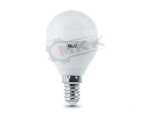Лампа светодиодная LED 6вт 230в Е14 белый матовый шар