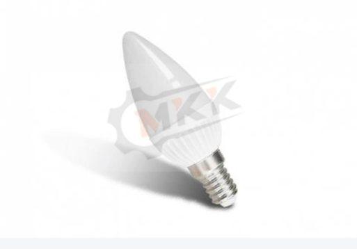 Лампа светодиодная LED 6вт E14 белый матовая свеча