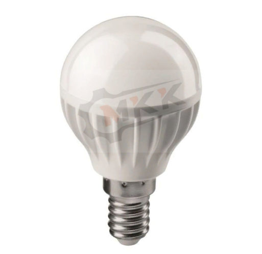Лампа светодиодная LED 6вт E14 белый матовый шар
