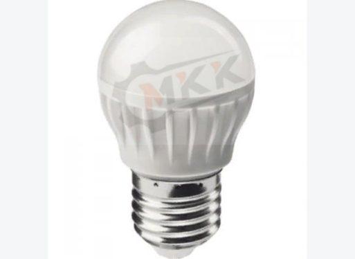 Лампа светодиодная LED 6вт E27 теплый матовый шар